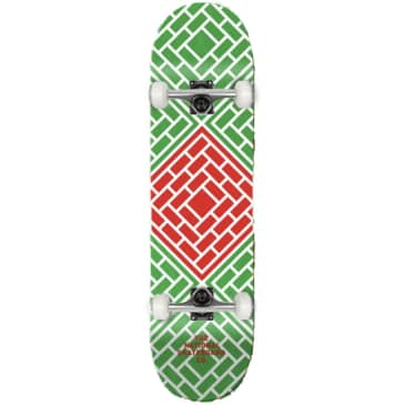 """The National Skateboard Co. - Classic Red (Lucky Dip Stain) - High Concave - Complete Skateboard - 8.25"""""""