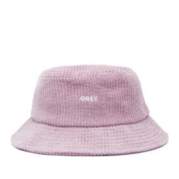 OBEY Bold Cord Bucket Hat - Dusty Rose