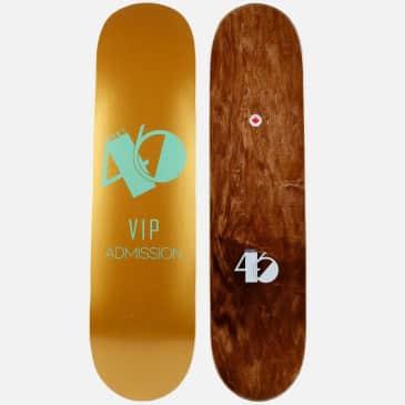 District 46 District VIP Gold Skateboard Deck - 8.00