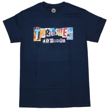 Thrasher 40 Years T-Shirt - Navy