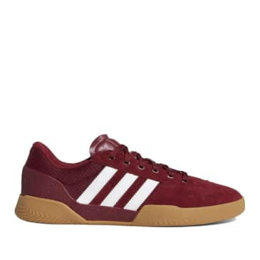 adidas Skateboarding City Cup Shoes - Collegiate Burgundy / Cloud White / Gum