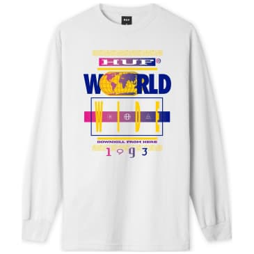 HUF 93 Tour Long Sleeve T-Shirt - White