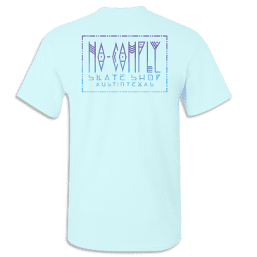 No-Comply Mexican Blanket Shirt - Light Blue