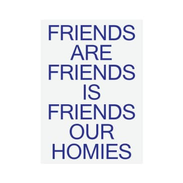 Catalogue Design - Friends Our Family A2 Print - Blue
