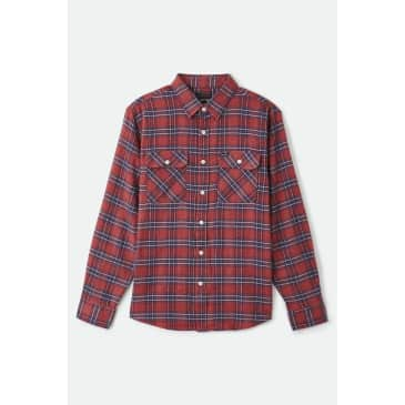 Brixton - Bowery Lightweight Crossover Flannel - Cowhide
