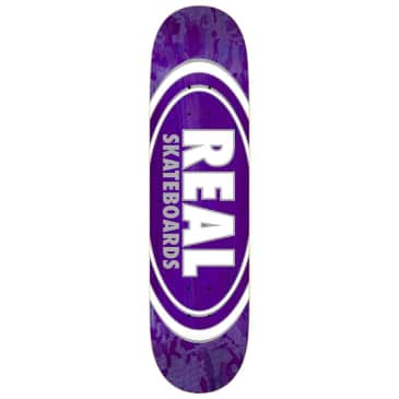"Real Skateboards - Oval Pearl Pattern Deck 7.75"" Wide"