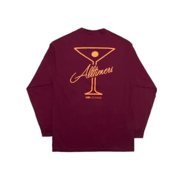 Alltimers League Player Long Sleeve T-Shirt - Burgundy