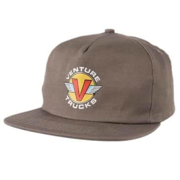VENTURE WINGS SNAPBACK HAT - CHARCOAL