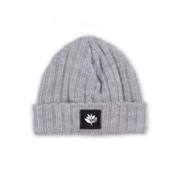 Magenta Beanie - Heather Grey