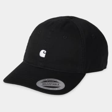 Carhartt WIP Madison Logo Cap - Black / White