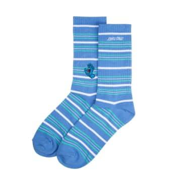 Santa Cruz Mini Screaming Hand Socks - Washed Navy Stripe