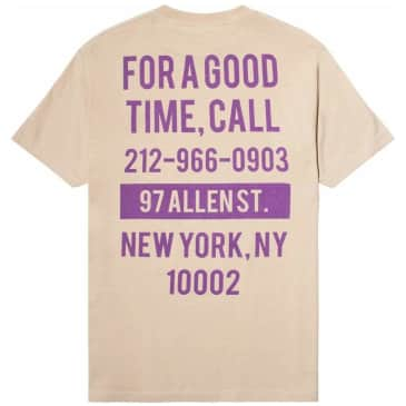 The Good Company Good Time T-Shirt - Sand / Purple