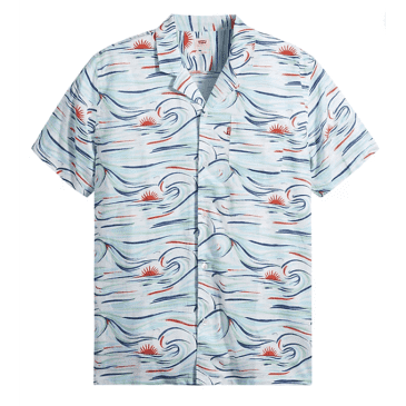 Levi's Classic Camp Shirt Chalky Wave Bright White