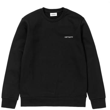 Carhartt WIP Script Embroidery Sweatshirt - Black / White