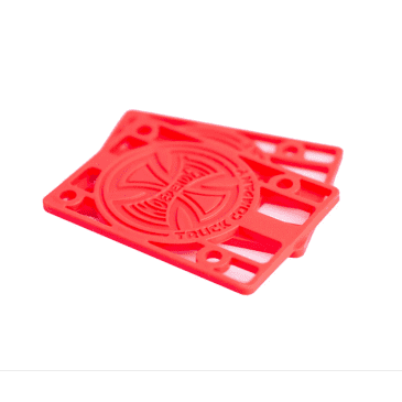 """Independent Genuine Parts Red Riser Pads - Set of Two (2) - 1/8"""""""