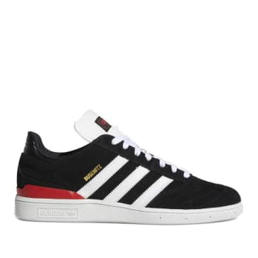 adidas Skateboarding Busenitz Pro Shoes - Core Black / Cloud White / Scarlett