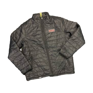 Venue Embroidered Puffy Jacket Black