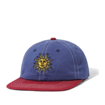 Butter Goods Sun 6 Panel Cap - Navy / Burgundy
