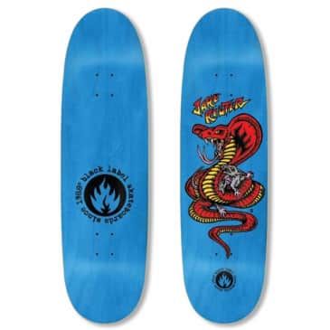 Black Label Skateboards Jake Reuter Snake and Rat Skateboard Deck - 9.00 Egg Shape (Blue Stain)