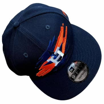 New Era Hat 950 Houston Astros Logo Tear Navy Orange Snapback