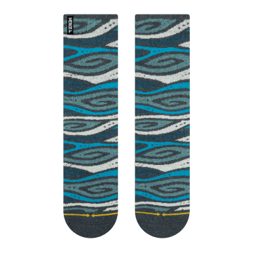 MERGE4 - Tencel/Hemp Wood Grain Socks