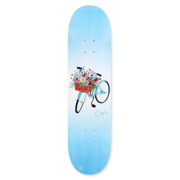 Skateboard Cafe Flower Basket Skateboard Deck Blue - 8.125""