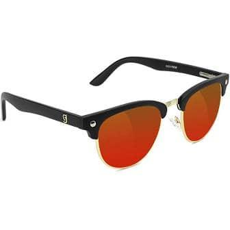 Glassy Morrison Premium Polarized Matte Black/Red Mirror