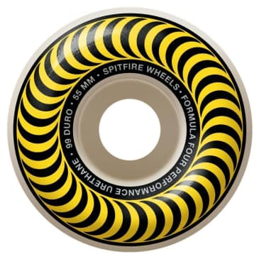 Spitfire Wheels F4 Classic Yellow 55mm 99D