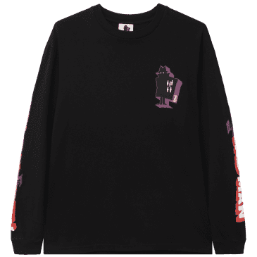 Real Bad Man Graphic Content Long Sleeve T-Shirt - Black