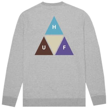 HUF Prism Trail Crewneck Sweatshirt - Heather Grey