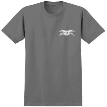 Antihero Stock Eagle T-Shirt - Charcoal / White
