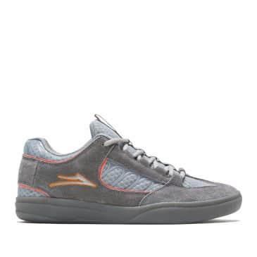 Lakai Carroll Suede Skate Shoes - Grey / Orange