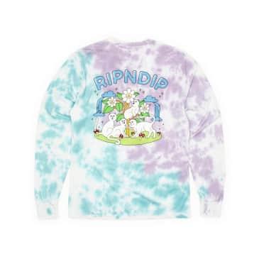 Rip N Dip Magical Place Longsleeve T-Shirt - Lavender/Mint Dye