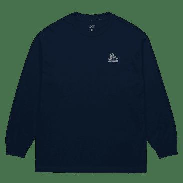 Last Resort AB Half Globe Long Sleeve T-Shirt - Navy
