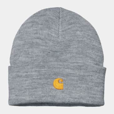 Carhartt WIP - Chase Beanie - Grey Heather / Gold