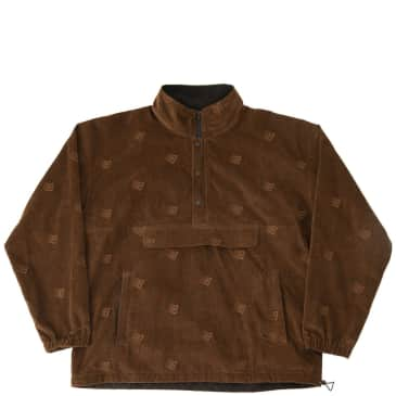 Bronze 56k Allover Embroidered Anorak - Brown