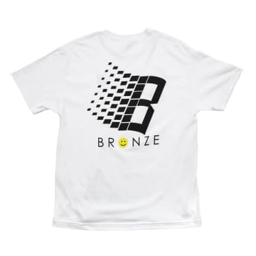 Bronze 56k Smiley B Logo T-Shirt - White