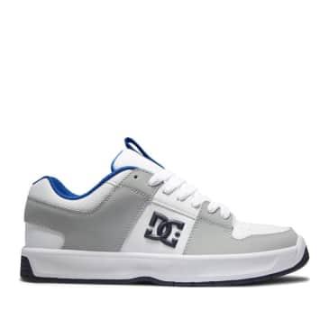 DC Lynx Zero Leather Skate Shoes - White / Blue / Grey