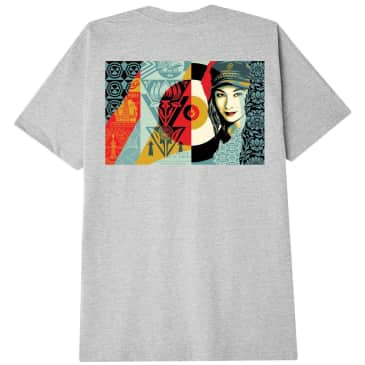 OBEY Raise the Level T-Shirt - Heather Grey