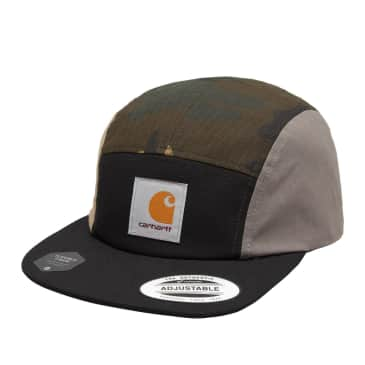 Carhartt WIP Valiant 4 Cap - Black /Camo Laurel / Air Force