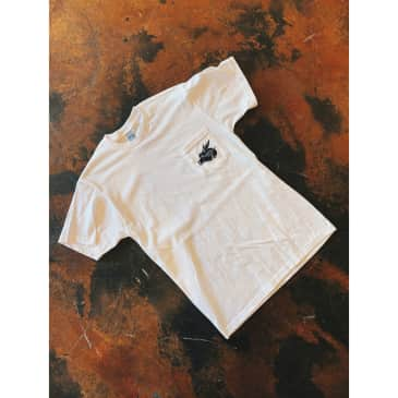 """Contact - """"Pigs Fly"""" Shop Pocket Tee (White)"""