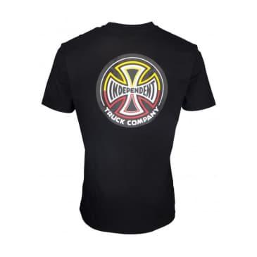 Independent Split Cross T-Shirt - Black