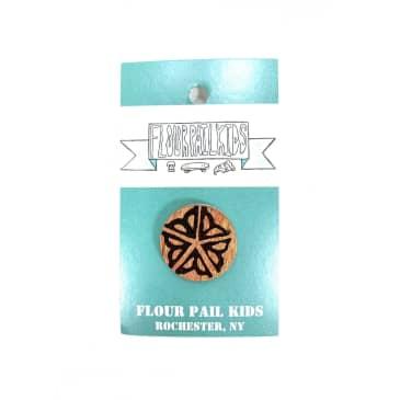 Flour Pail Kids Flower City Logo Recycled Skateboard Pins