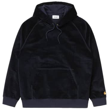 Carhartt WIP Hooded Cord Sweatshirt - Dark Navy / Gold