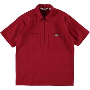 Ben Davis - S/S Half-Zip Work Shirt - Red