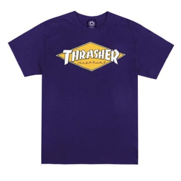 Thrasher Diamond Logo T-shirt Purple