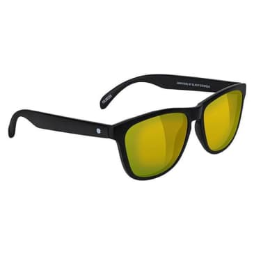 Glassy - Deric Polarized Sunglasses - Black/Gold Mirror