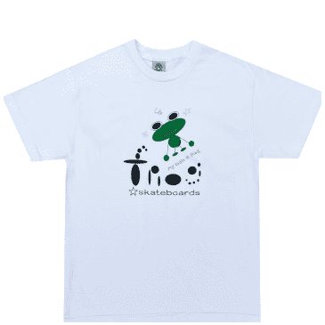 Frog My Brain Is Fried T-Shirt - White