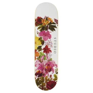 "Studio Skateboards - 8.0"" Botanical Deck - White"