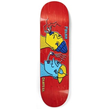 Polar Skate Co. Smoking Heads Skateboard Deck - 8.375""